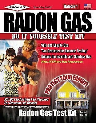 Pro-Lab RA100 Radon Gas Do It Yoursef Test Kit New