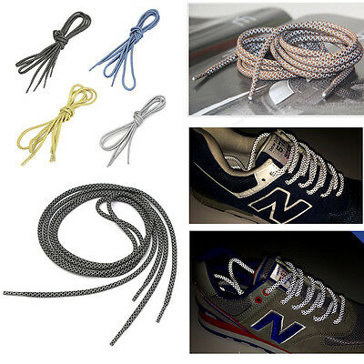 """49"""" 3M Reflective Round Rope Shoe Laces Shoelaces Runner Shoestrings 15Colors SS"""