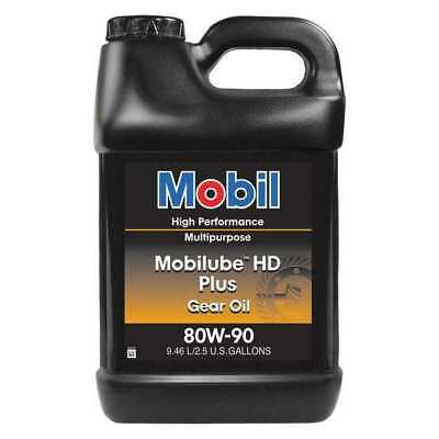 MOBIL 102509 2.5 gal. Gear Oil Can, 150 ISO Viscosity, 80W-90 SAE, Amber