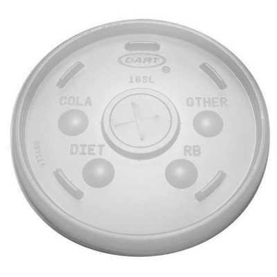 Straw Slotted Cold/Hot Cup Lid, Clear ,Dart, 16SL