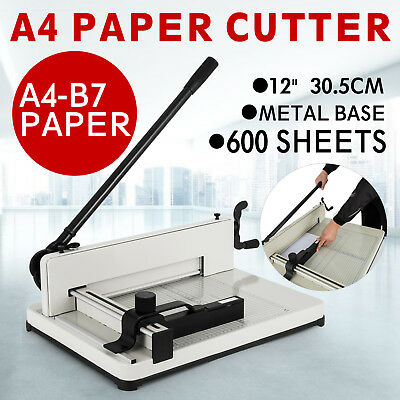 "New 12"" Guillotine Cutting Machine Office Manual Stack Paper Cutter Heavy Duty"