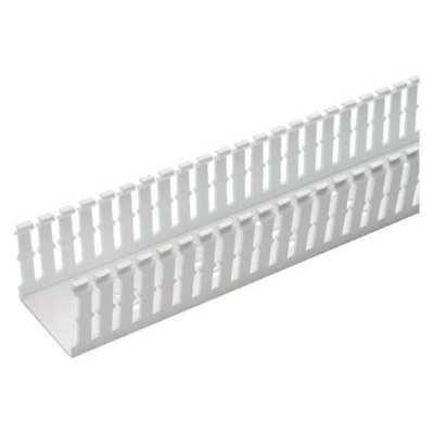 PANDUIT F1X2WH6 Wire Duct,Narrow Slot,White,1.26 W x 2 D