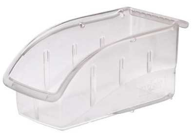 "Clear Hang and Stack Bin, 10-7/8""L x 5-1/2""W x 5-1/4""H AKRO-MILS 305B1"