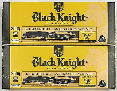 903494 2 x 250g BOXES OF BLACK KNIGHT TRADITIONAL LICORICE ASSORTMENT! - NZ