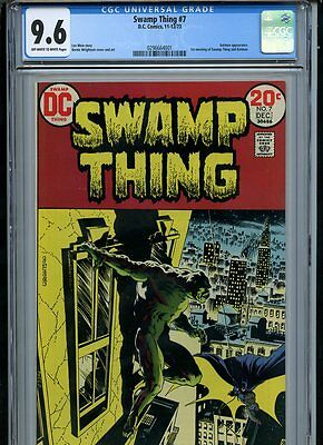 Swamp Thing #7 (1973) Batman Cover Wrightson CGC 9.6 NM+