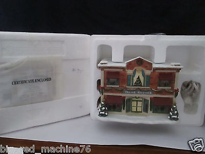 Hawthorne Village Norman Rockwell Village Clothier Box and Certificate NEW!