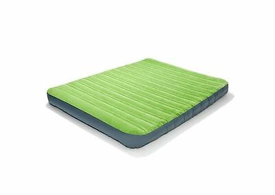 Inflatable Air Mattress Bed Queen Green Comfort Cell Camping Outdoor Sleep Soft