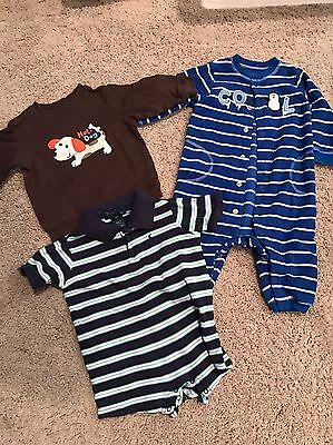 EUC LOT Of 3 Items Of Baby Boy Clothes Ralph Lauren & Carters Size 9 Months