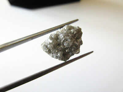 12.95CTW Huge Sparkling Silver Grey Raw Rough Natural Uncut Diamond Dds271/9