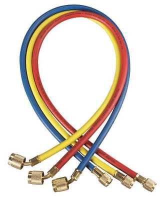 YELLOW JACKET 22985 Refrigeration Hose Set, Low-loss, 60 In