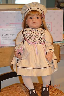 "Middleton Doll ""Little Miss Proper"" by Reva Schick in original box with COA"