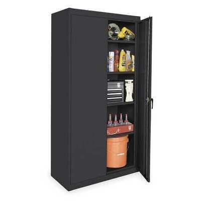 1UEZ6 Storage Cabinet, Black, 72 In H, 36 In W