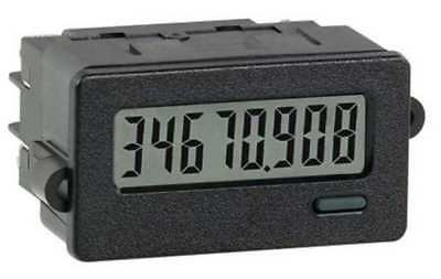RED LION CUB7CCS0 Electronic Counter, 8 Digits, LCD