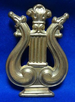 Spanish American War SAW Army Band/Musician Officer Hat Badge WIRE BACKED