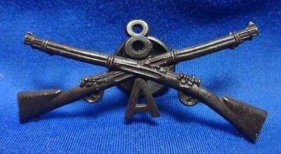 Spanish American War - WWI 8th Infantry Regiment A Company Officer Insignia