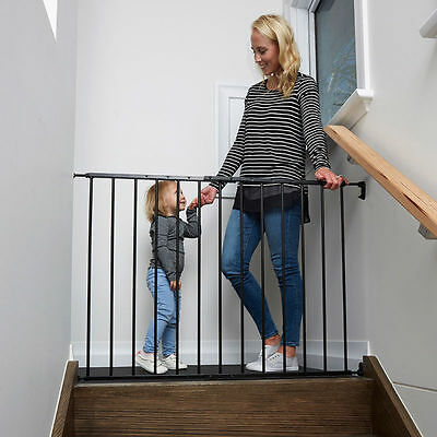 NEW Childcare Baby Child Safety Gate Pet Barrier BLACK
