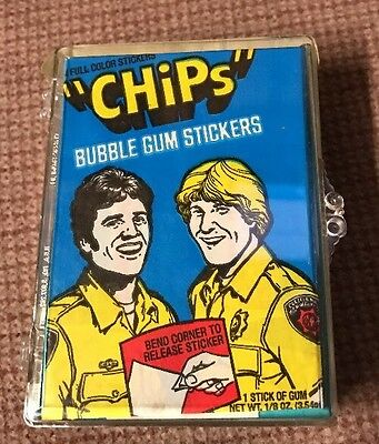 CHIPS PATROL TV Series 1979 Donruss Complete 60 Card Set 6 Stickers With WRAPPER