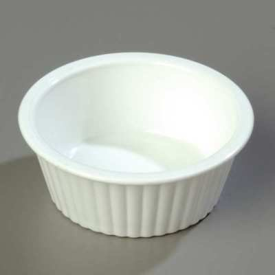 White Fluted Ramekin, White ,Carlisle, 84402