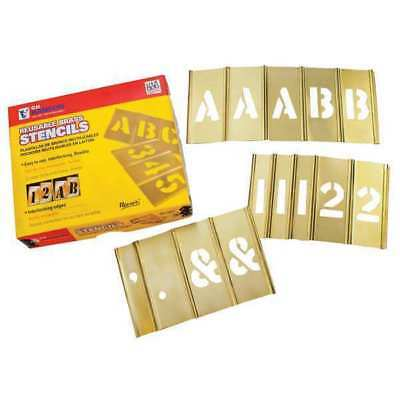 CH HANSON 10154 4 inch Stencil Let. & Num. 92 pc Set
