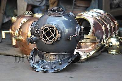 Antique Diving Divers Helmet Copper & Brass U.S Navy Mark V Full Size 18
