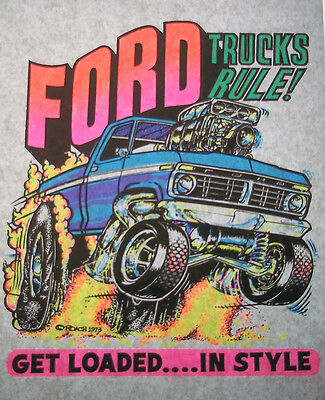 Ford Trucks Rule Vintage 70's Roach T-Shirt transfer