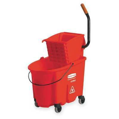 WaveBrake Mop Bucket and Wringer,8.75 gal.,Red RUBBERMAID FG758888RED