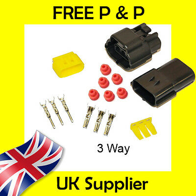 3 Way Male + Female Econoseal AMP Waterproof Wiring Electrical Multi Connector