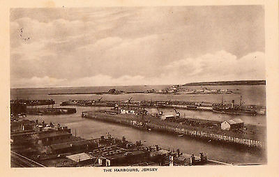 THE HARBOURS JERSEY RP POSTCARD by THE F. F. PHOTOTONE SERIES