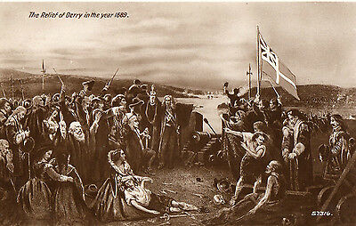 The Relief Of Derry In The Year 1689 Valentines Rp Ireland Irish Postcard 57316