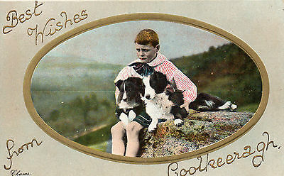 Best Wishes From Coolkeeragh Co. Derry Londonderry Postcard Posted 26-Nov-1913