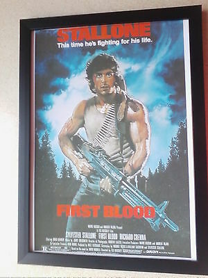 First Blood (1982) Rambo framed movie poster print