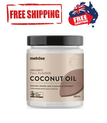 Certified Melrose ORGANIC Refined 100% Pure Virgin COCONUT OIL Cold Pressed 300g