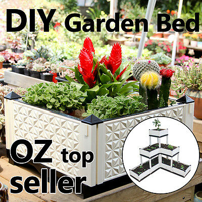 DIY GARDEN BED Lightweight Grow Pot/Tray For Decking or Garden NON-TOXIC
