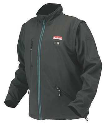 MAKITA DCJ200ZXL Heated Jacket, Men, XL, Black