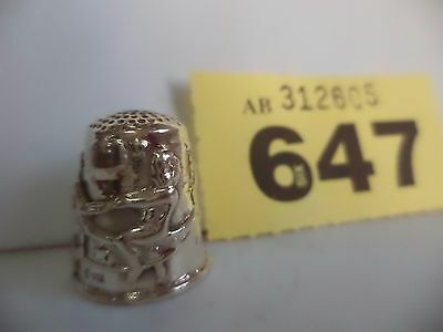 1) Vintage .925 Solid Silver Thimble with Fairies Riding a Butterfly Decoration
