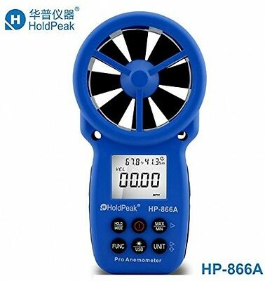 Portable Handheld Wind Speed Air Volume Meter Anemometer USB Data Carry Bag New