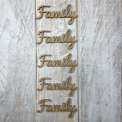MDF Wooden Family Tree Wording & Heart Sets