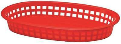 Oval Food Platter Basket, Red ,Tablecraft Products Company, 1076R