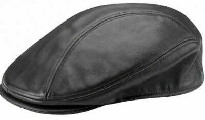New Real Cow Leather Ivy Flat Newsboy Cap Gatsby Golf Hat Driver Cabbie