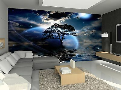 Night Landscape  Wall Mural Photo Wallpaper GIANT WALL DECOR Paper Poster