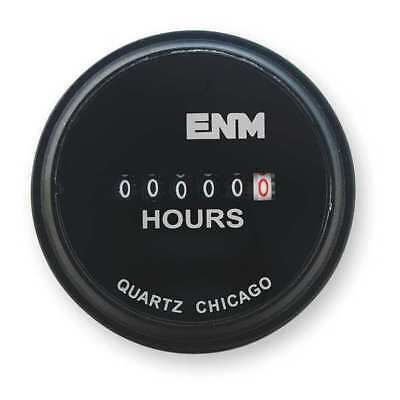 ENM T50A4 Hour Meter, Electrical, 2.31In, Flush Round