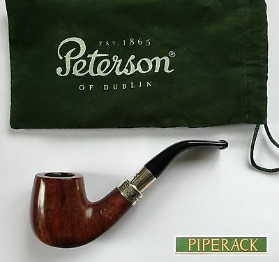 NEW Peterson Walnut Pipe Spigot Sterling 69 Silver with 9mm Filter RARE