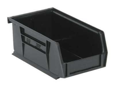 "Black Hang and Stack Bin, 7-3/8""L x 4-1/8""W x QUANTUM STORAGE SYSTEMS QUS220BR"