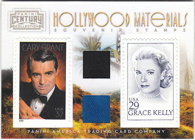Cary Grant Grace Kelly 2010 Panini Century Collection Relic Stamp /250
