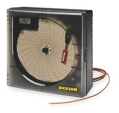 DICKSON KT6P5 Circular Chart Recorder,Temperature,6 In