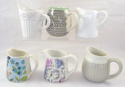Ceramic Milk Jugs Creamers White Embossed Heart Floral