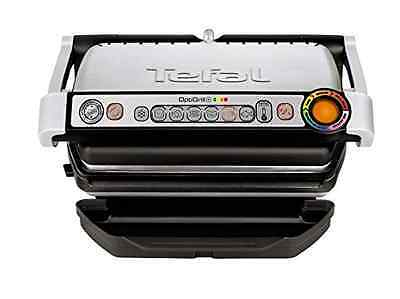 Tefal GC713D40 Stainless Steel OptiGrill Plus Health Grill with Automatic Thickn