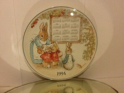 "Lovely 1994 China ""bunnykins"" Decorative Wall Plate"