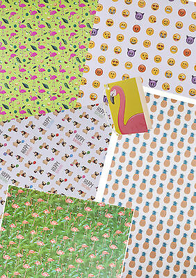 *MANY DESIGNS* High Quality Single Sheet Wrapping Gift Paper & Matching Tag.