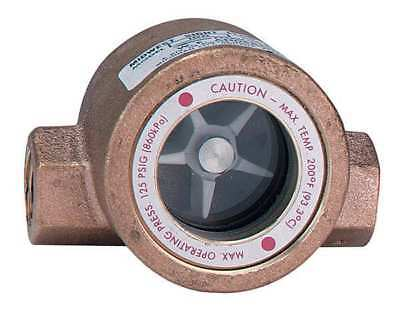 Window Sight Flow Indicator with Impeller, FNPT, Dwyer Instruments, SFI-100-3/8